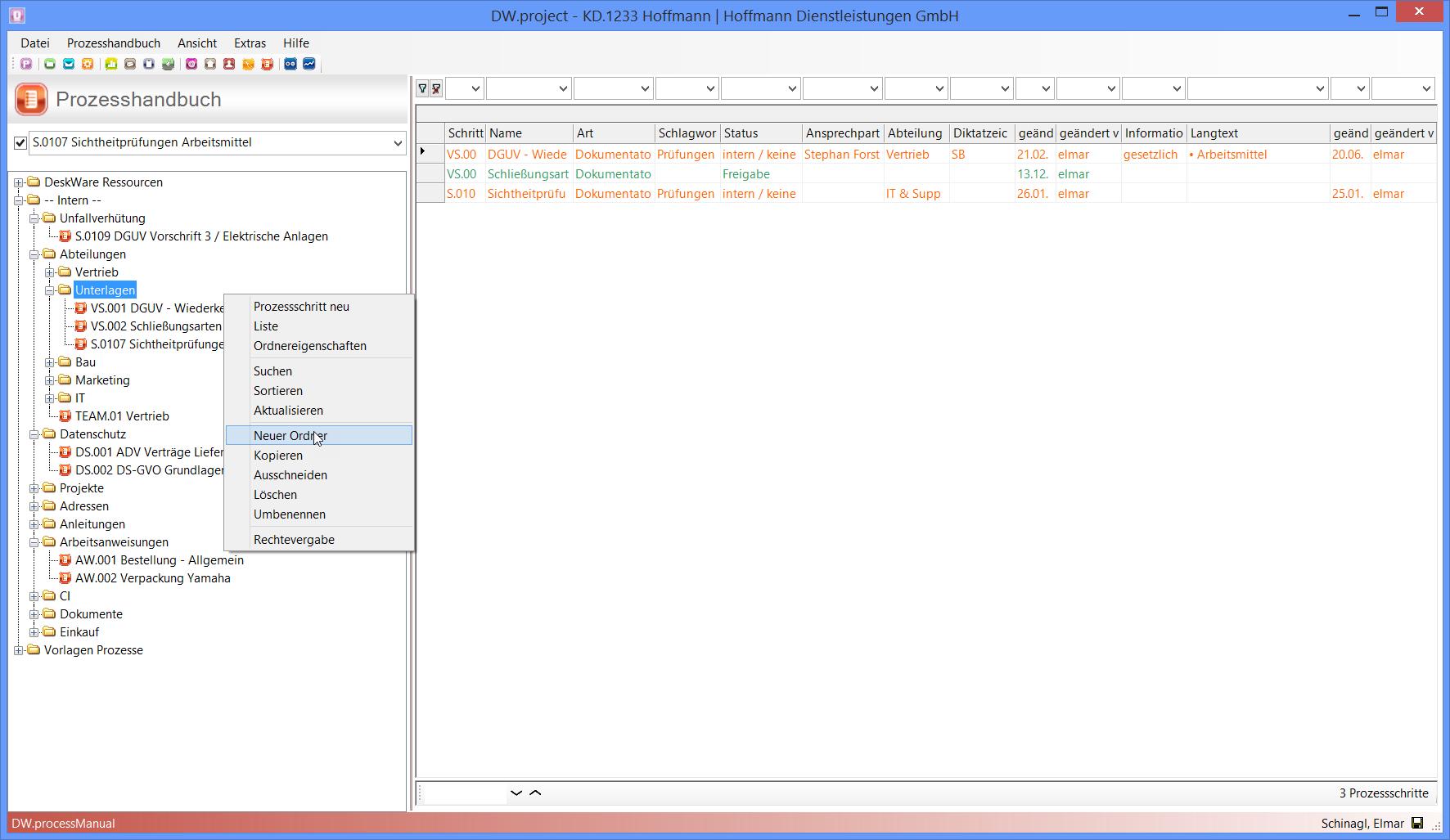Prozesshandbuch - Unternehmenssoftware - DeskWare Products